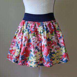 Gilly Hicks Floral Skirt Mini Elastic Waist